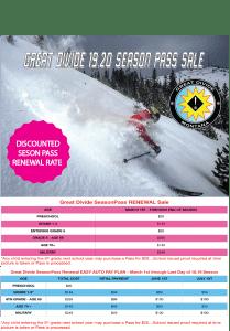 Discounted Season Pass Sale for season Pass renewal
